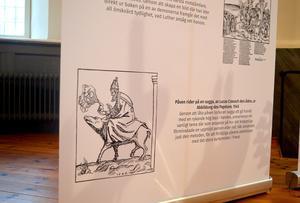 Utställningen När Luther blev viral visar bland annat utmanande och vulgära bilder från 1500-talet som denna nidbild av påven.
