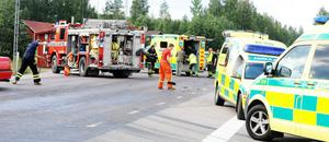 Trafikolyckan inträffade vid korsningen till Arbråsågen.