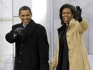 Barack Obama och hans hustru Michelle.
