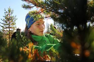 Ebba Modin, Hedeviken, var en av många niondeklassare på skogsdagen.   Intressant dag och jag kan mycket väl tänka mig att arbeta inom skogsnäringen, sa Ebba.