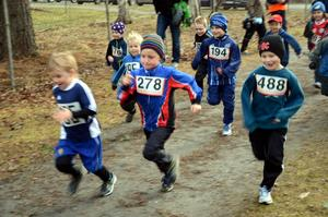 Färdiga, gå. Det var full fart från start när det var dags för pojkar födda 2006 och 2007 att springa vårens första terränglöpning.