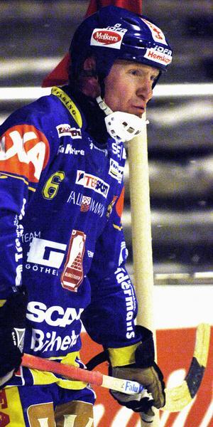 Äldst i laget. Jörgen Momqvist har bestämt sig för en säsong till i Falu BS. Foto: Mikael Forslund/Arkiv