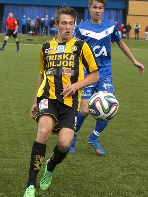 Rasmus Engström, en av flera FV-spelare som brände chanser i kvalet mot Gällivare/Malmberget.