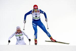 Stina Nilsson, Mora, visade riktigt fin form i Bruksvallarna som tvåa på lördagen och segrare i söndagens sprint.