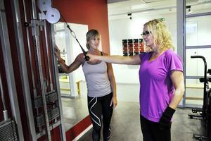 Jessica Sjödin var Annas instruktör på Gävle rehab. De är nu goda vänner.
