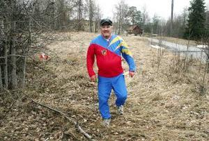 """Förre storgångaren Ove Hemmingsson hade bytt sport. """"Jag har blivit orienterare på gamla dagar. Det här är  jättekul!"""""""