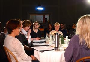 Inga-Britt Edbjörk, Anna Melin, Maj Söderström, Janina Östling och Karin Stenmark Nässén låter Kluk växa fram som ett finmaskigt nät emellan sig.