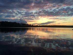 Bild från en sen fisketur i slutet av Juli i närheten av Trollarudden utanför Borlänge.