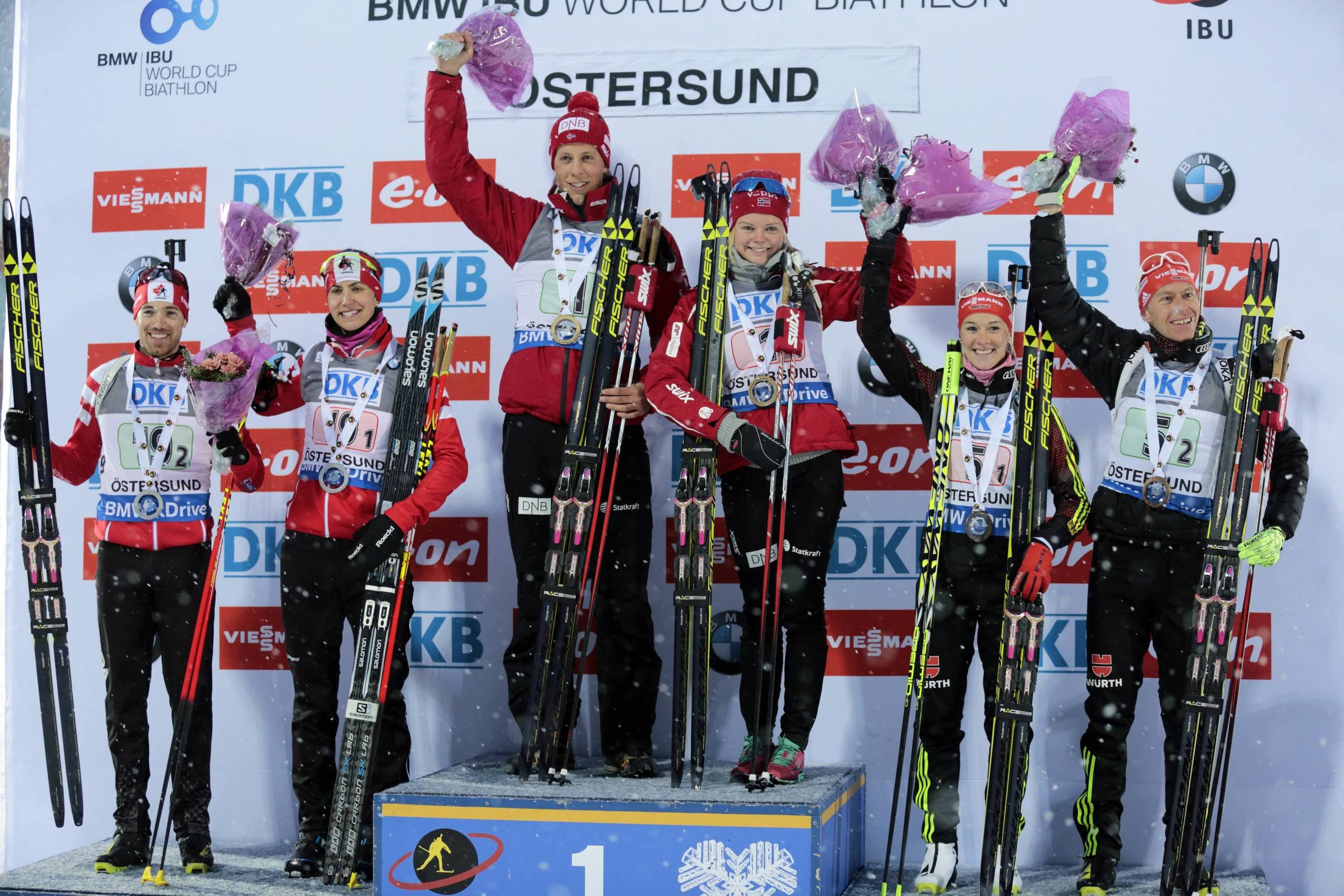 Tyskland och norge inledde med segrar