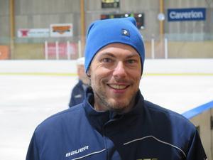 Magnus Malmström, lagledare för IK Huges U8-lag.