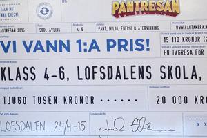 En tågresa för 20000 kronor har eleverna i Lofsdalen fått för att de är Sverigebäst på att panta.