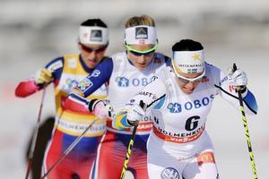 Marit Bjørgen är gravid och är borta från första delen av säsongen. Då kommer kampen att stå mellan Kalla och Johaug.