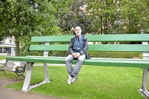 Stor konst. Per Fernhagen gillar Open art. Örebro är en levande stad, säger han. Foto: Anders Erkman