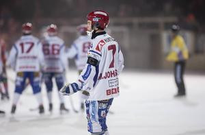 Kungälv kastas ur elitserien. Här en bild på Mathias Johansson från säsongen som gick. Försvararen har redan lämnat klubben för IFK Vänersborg.
