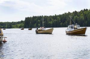 Ett tiotal träbåtar deltog i årets upplaga av Träbåtens dag.