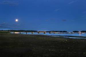 Långbryggan vid Stenö havsbad.