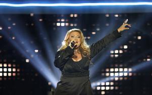 """Så såg det ut i Läkerol Arena 2007. Sarah Dawn Finer kvalificerade sig för Globen-finalen i Melodifestivalen med sin låt """"I Remember Love""""."""