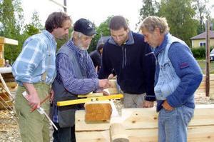 Christop Thum, Tycho Loo, Olaf Jung och Harald Jancke i knuttimringstagen.