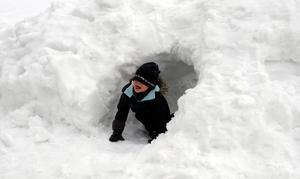 Snart kan barnen kanske leka i snön.