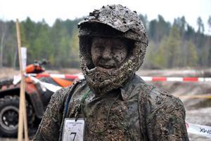 Bobby Ericson, Team Go Offroad, kunde konstatera att banan på Aspnäs var rätt lerig...