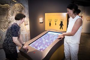 En form av ett digitalt spel som också handlar om Gruvans historia visad av Gunilla Hedenblad och Ann-Sofie Axelsson.