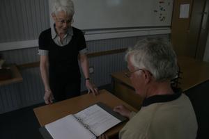 Märta Dellengård var Karl-Ove Ljunglöfs lärare för ungefär 50 år sedan.