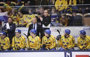 Sveriges förbundskapten Pär Mårts såg ingen botten i Tre Kronors usla spel mot Tjeckien. Arkivbild