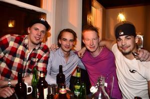 Anderas Franzén, Johan Larsson, Oscar Wiklander och Erik Larsson.