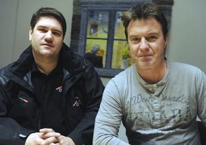 Mikael Reijer, ny vd, och Mikael Jonsson (m), blivande styrelseordförande, för bolaget Aicab.