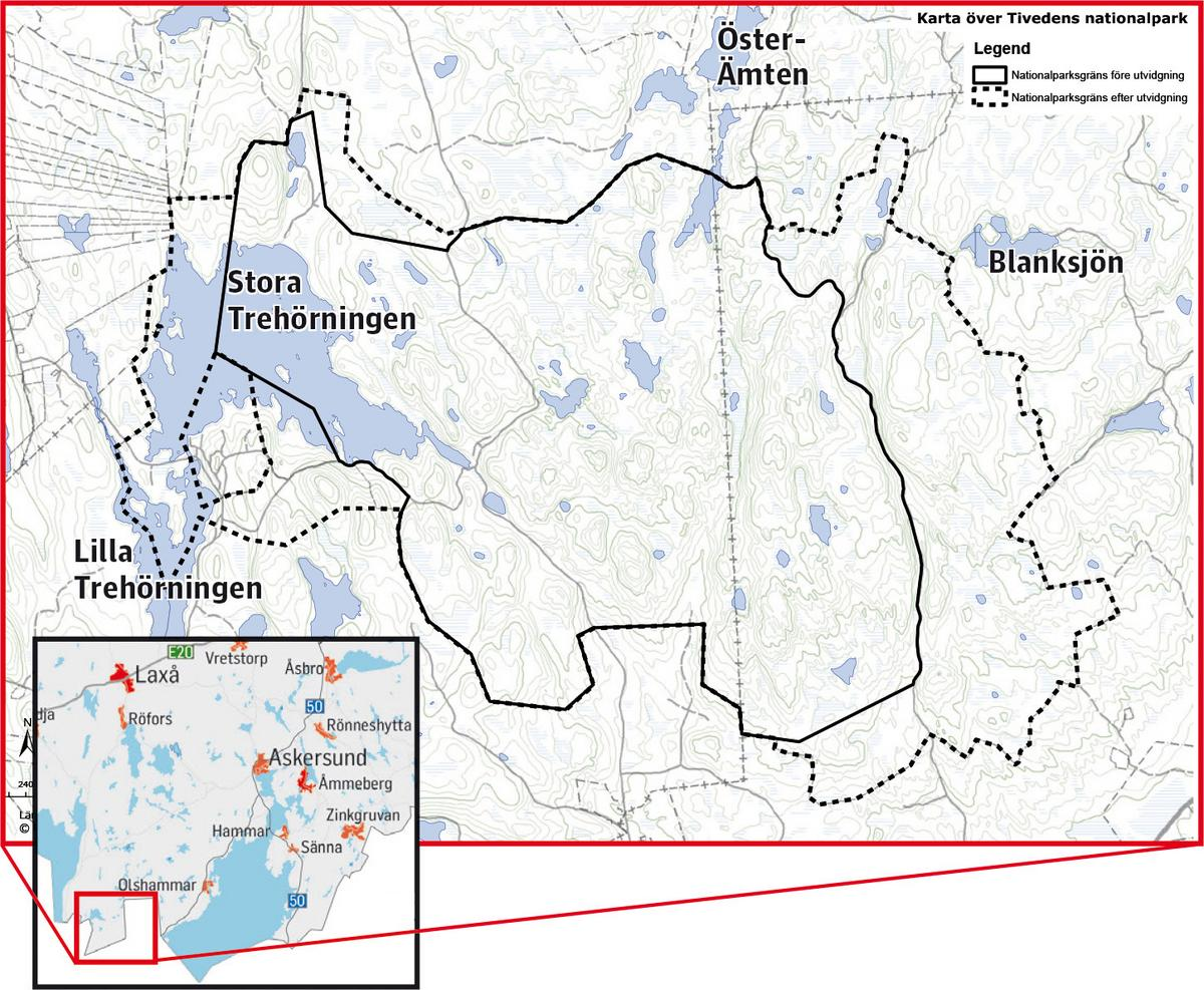 Karta Zinkgruvan.Vantat Besked Om Tivedens Nationalpark