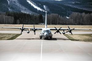 Ett Herculesplan med poliser landade på söndagen i Borlänge för att stärka upp polisbevakningen i Falun under 1 maj.