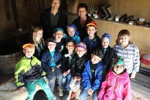 Barnen och lärarna från förskoleklassen i Roteberg tyckte visningen var bra. De fick se och lära sig många saker.