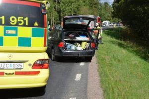 Tre bilar var inblandade i krocken på riksväg 50.