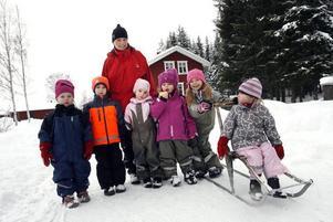 Hos dagmamman Malin är barnen ute varej dag året om, såvida vädret inte är extremt dåligt.