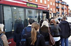 Buss 749 från Södertälje till Liljeholmen.