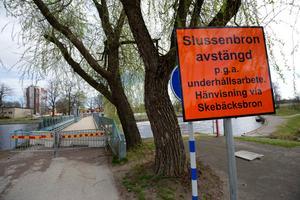 Bron nere vid Slussen.