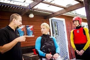 Pelle Nyberg och Anna-Maria Nyberg på Upplev Järvsö har haft ungefär 20 riverboardinggrupper i år.