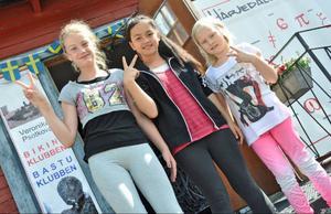 Karolina Bengtsson, Pisawte och Maiya Thunell tycker att streetdance är jättekul.