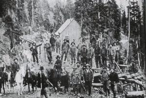 Ett gammalt fotografi taget vid gruvan