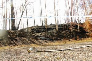 Här togs sig branden inte längre, en väg blev dess stopp.