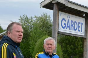 Svenska Fotbollsförbundets ordförande Karl-Erik Nilsson besökte Norrlandslägret i Junsele och passade på att diskutera med lägrets eldsjäl Sven Lundberg som var med och startade Norrlandslägret för 28 år sedan.