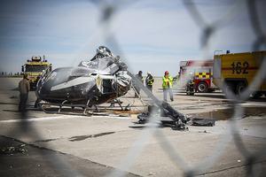 Strax innan klockan tio i förmiddags kraschade en helikopter på flygplatsen på Frösön.