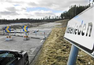 Ett av de nyare gatuprojekten är Västerledens förlängning på Erikslund.