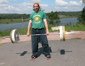 Träning. Ola Rapace får slita hårt för att komma i form. Foto:Lovisa Svenn