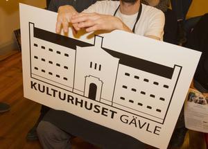 Kulturhuset Gävle har fått en egen skylt.
