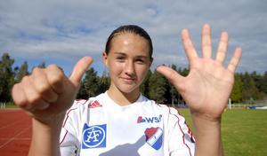 Med sex fullträffar såg Lova Lundin till så att Kvarnsvedens F14-lag vann finalen i Miljönären Cup mot Bullermyren.