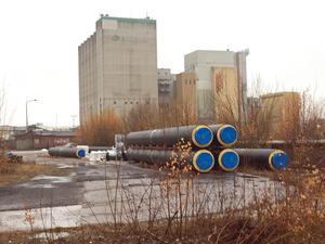 Lantmännens silo i Östra hamnen.