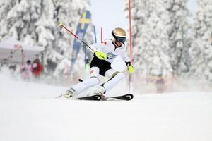 Ella-Carolina Strömstedt, ÖFS, vann lördagens slalom i F12.