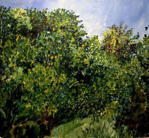 En tidig Lena Cronquist, inte helt lik hennes nuvarande måleri