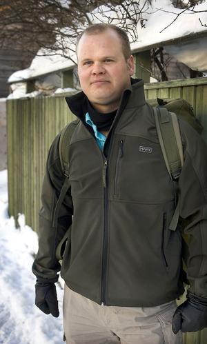Pär Engholm, major från Delsbo på uppdrag i Afghanistan.
